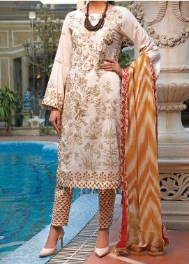 Sauda Saad by VS Textile Embroidered Lawn Unstitched 3 Piece Suit VS20SS 20-02A - Spring / Summer Collection