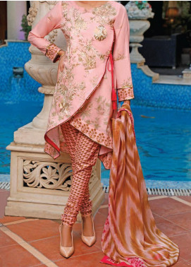 Sauda Saad by VS Textile Embroidered Lawn Unstitched 3 Piece Suit VS20SS 20-02B - Spring / Summer Collection