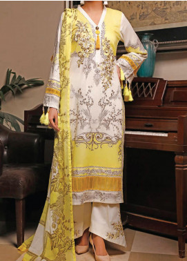 Sauda Saad by VS Textile Embroidered Lawn Unstitched 3 Piece Suit VS20SS 20-03A - Spring / Summer Collection