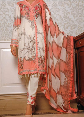 Sauda Saad by VS Textile Embroidered Lawn Unstitched 3 Piece Suit VS20SS 20-03B - Spring / Summer Collection