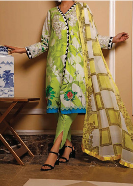 Sauda Saad by VS Textile Embroidered Lawn Unstitched 3 Piece Suit VS20SS 20-05 - Spring / Summer Collection