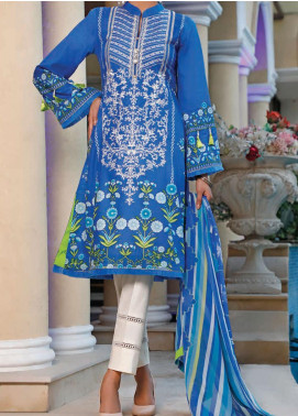 Sauda Saad by VS Textile Embroidered Lawn Unstitched 3 Piece Suit VS20SS 20-06A - Spring / Summer Collection