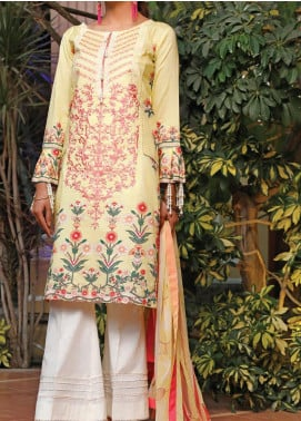 Sauda Saad by VS Textile Embroidered Lawn Unstitched 3 Piece Suit VS20SS 20-06B - Spring / Summer Collection