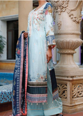 Sauda Saad by VS Textile Embroidered Lawn Unstitched 3 Piece Suit VS20SS 20-08 - Spring / Summer Collection