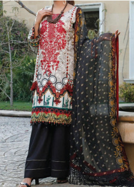 Sauda Saad by VS Textile Embroidered Lawn Unstitched 3 Piece Suit VS20SS 20-09 - Spring / Summer Collection