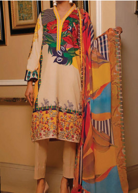 Sauda Saad by VS Textile Embroidered Lawn Unstitched 3 Piece Suit VS20SS 20-10 - Spring / Summer Collection