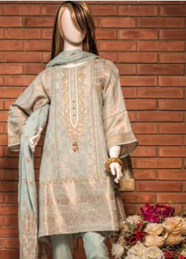 Saya Embroidered Jacquard Unstitched 3 Piece Suit SY19E 4A - Festive Collection