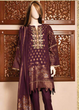 Saya Embroidered Jacquard Unstitched 3 Piece Suit SY19E 5B - Festive Collection