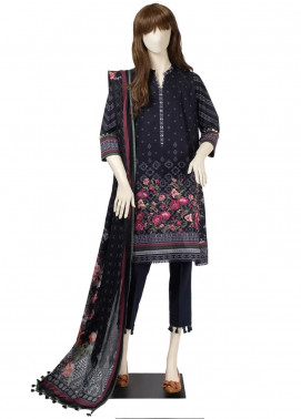 Saya Embroidered Cambric Unstitched 3 Piece Suit SY19CB FLOKATI 02A - Premium Collection