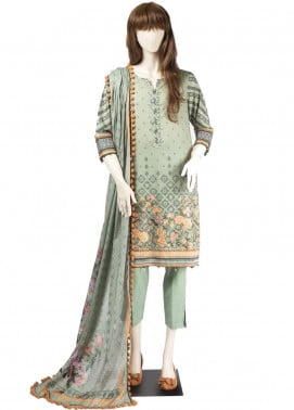 Saya Embroidered Cambric Unstitched 3 Piece Suit SY19CB FLOKATI 02C - Premium Collection