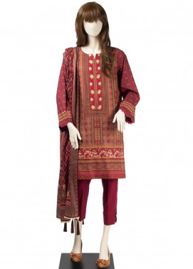 Saya Embroidered Cambric Unstitched 3 Piece Suit SY19CB KILIM 03A - Premium Collection