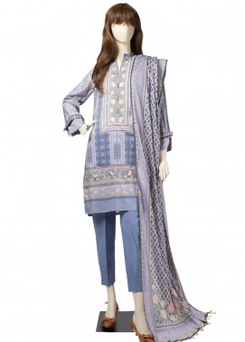 Saya Embroidered Cambric Unstitched 3 Piece Suit SY19CB KILIM 03C - Premium Collection
