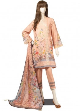 Saya Embroidered Cambric Unstitched 3 Piece Suit SY19CB LAURA 04A - Premium Collection