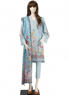 Saya Embroidered Cambric Unstitched 3 Piece Suit SY19CB LAURA 04B - Premium Collection