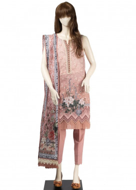 Saya Embroidered Cambric Unstitched 3 Piece Suit SY19CB SOPHIE 10A - Premium Collection