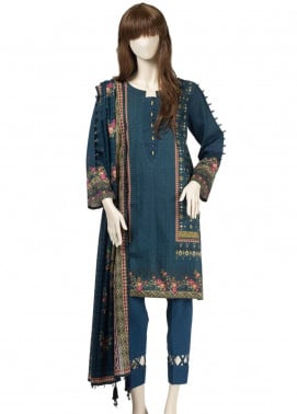 Saya Embroidered Cambric Unstitched 3 Piece Suit SY19CB TATAMI 09C - Premium Collection
