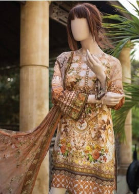 Saya Embroidered Lawn Unstitched 3 Piece Suit SY19-L2 4C - Spring / Summer Collection