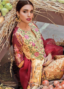 Bashir Ahmed Embroidered Lawn Unstitched 3 Piece Suit SB18L 08 - Spring / Summer Collection