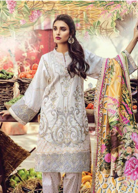 Bashir Ahmed Embroidered Lawn Unstitched 3 Piece Suit SB18L 10 - Spring / Summer Collection