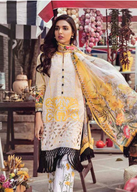 Bashir Ahmed Embroidered Lawn Unstitched 3 Piece Suit SB18L 13 - Spring / Summer Collection