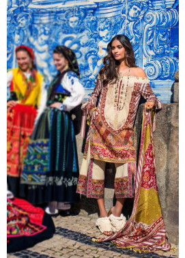 Shehla Chatoor Embroidered Lawn Unstitched 3 Piece Suit SC17L 1B