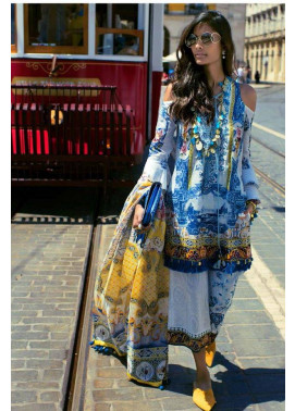 Shehla Chatoor Embroidered Lawn Unstitched 3 Piece Suit SC17L 2A