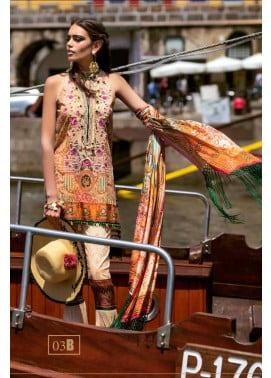 Shehla Chatoor Embroidered Lawn Unstitched 3 Piece Suit SC17L 3B