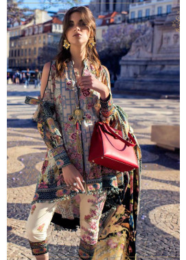 Shehla Chatoor Embroidered Lawn Unstitched 3 Piece Suit SC17L 4A