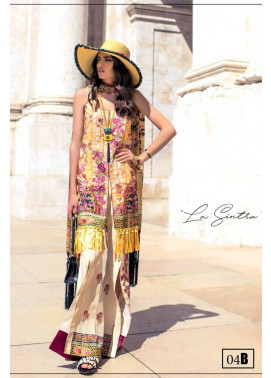 Shehla Chatoor Embroidered Lawn Unstitched 3 Piece Suit SC17L 4B