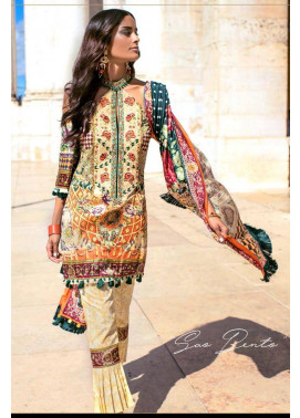 Shehla Chatoor Embroidered Lawn Unstitched 3 Piece Suit SC17L 6B