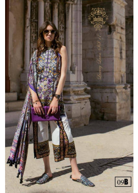 Shehla Chatoor Embroidered Lawn Unstitched 3 Piece Suit SC17L 9B