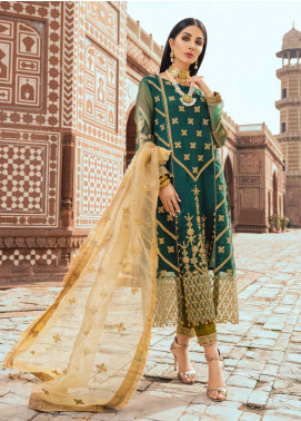 Sanaya Embroidered Organza Unstitched 3 Piece Suit SN20SC 1 - Luxury Collection