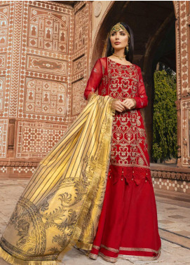 Sanaya Embroidered Chiffon Unstitched 3 Piece Suit SN20SC 2 - Luxury Collection