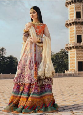 Sanaya Embroidered Raw Silk Unstitched 3 Piece Suit SN20SC 3 - Luxury Collection