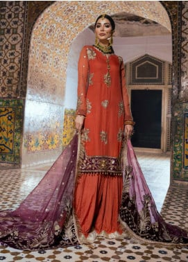 Sanaya Embroidered Chiffon Unstitched 3 Piece Suit SN20SC 5 - Luxury Collection