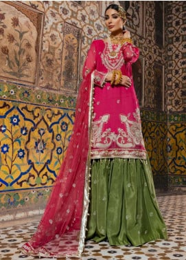 Sanaya Embroidered Chiffon Unstitched 3 Piece Suit SN20SC 6 - Luxury Collection