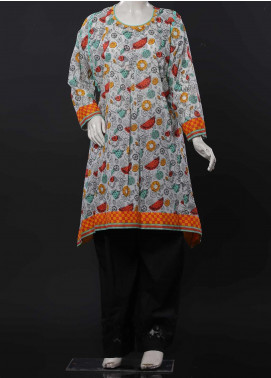 Senorita Cotton Casual Kurti for Girls -  GAA-01537 WHITE