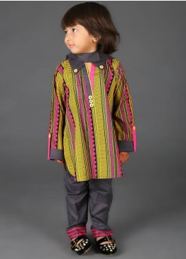 Senorita Cotton Net Fancy 3 Piece Suit for Girls - KAD-01346 MULTI COLOUR