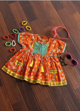 Senorita Cotton Fancy Kurtis for Girls -  KAA 01189 OGN