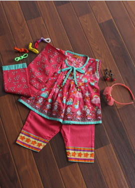 Senorita Cotton Fancy Girls 3 Piece Suit -  KAD- 01179 SPK