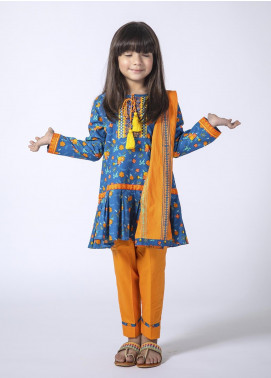 Senorita Cotton Casual Girls 3 Piece Suit - BLUE KAD-01344