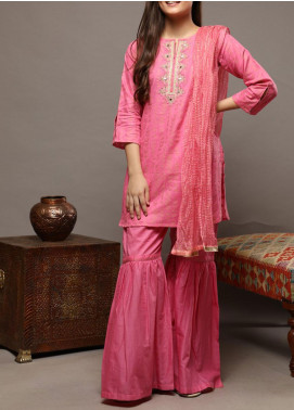 Senorita Cotton Casual Girls 3 Piece Suit -  GBD-01584 PINK