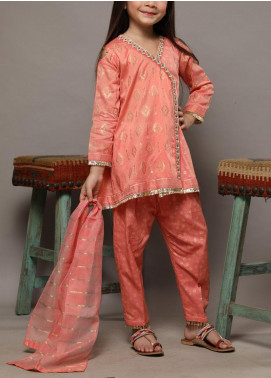 Senorita Cotton Casual Girls 3 Piece Suit -  KBD-01247-PEACH