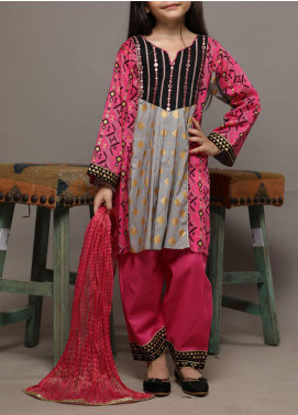 Senorita Lawn Casual 3 Piece Suit for Girls -  KBD-01555 GREY