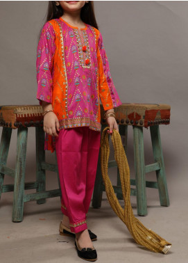 Senorita Lawn Casual Girls 3 Piece Suit -  KBD-01561 ORENGE