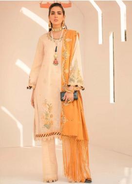 Seran Embroidered Khaddar Unstitched 3 Piece Suit SRN20W 05 FLORAL EFFERVESCENCE - Winter Collection