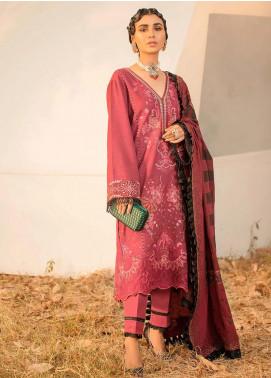 Seran Embroidered Khaddar Unstitched 3 Piece Suit SRN20W 06 BLUSHING ROSE - Winter Collection