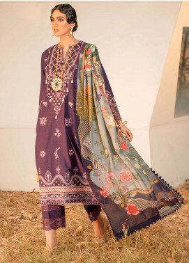 Seran Embroidered Khaddar Unstitched 3 Piece Suit SRN20W 09 ROYAL ENCHANTER - Winter Collection