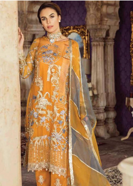 Imrozia by Serene Embroidered Chiffon Unstitched 3 Piece Suit SEI19KM 801 UROOJ-E-AFTAAB - Luxury Collection