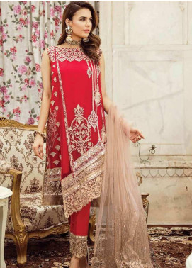 Imrozia by Serene Embroidered Chiffon Unstitched 3 Piece Suit SEI19KM 805 KIRAN-E-MARJAAN - Luxury Collection